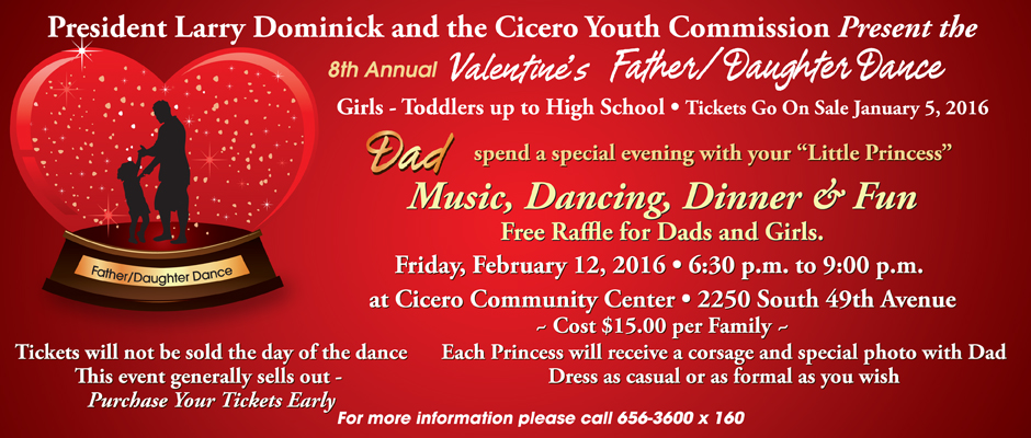 Father Daughter Dance Town Of Cicero Il