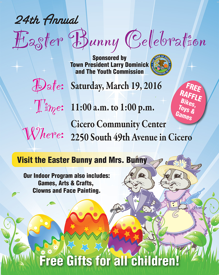 Cyc s annual easter bunny celebration town of cicero il for What is the easter bunny s phone number