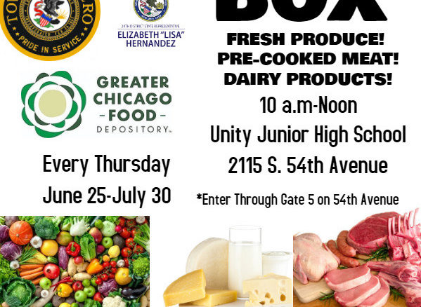 Food giveaway every Thursday Cicero District 99