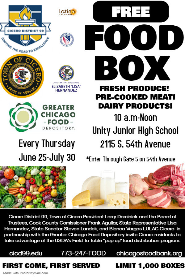 District 99 food giveaway every thursday
