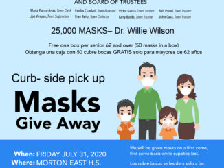 Dr. Willie Wilson donates 25,000 face masks for Cicero's Senior Citizens Friday July 31, 2020