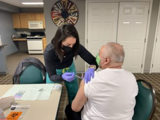 The Cicero Health Department recently administered Coronavirus vaccinations to seniors at Drexel Homes. Photo courtesy of the Town of Cicero