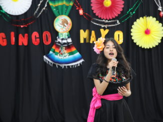 Alexandra Salgado entertains at Town President Larry Dominick's Virtual Facebook Cinco de Mayo celebration, 2021
